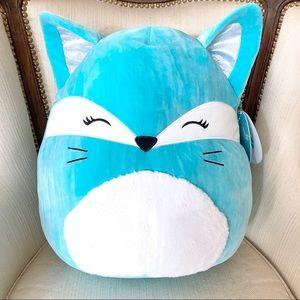 "NWT Squishmallow Pania the Teal Fox 16"" HTF"